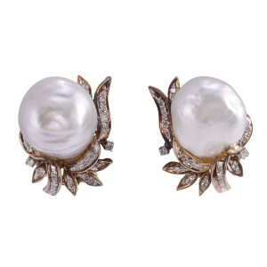 South Seas Pearl Clip Earrings