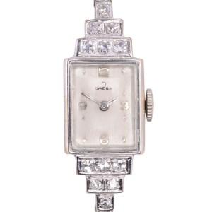 Omega Diamond Ladies Wrist Watch