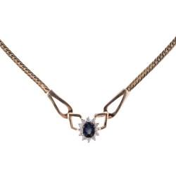 Oval Sapphire Diamond Necklace
