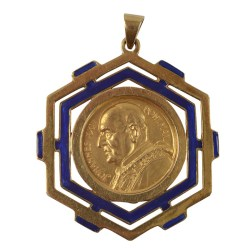 Gold Pope John XXIII Commemorative Pendant