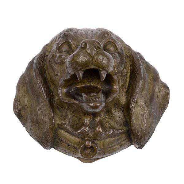 bronze dog stamp box