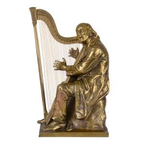 Karl Harstock Harpist bronze