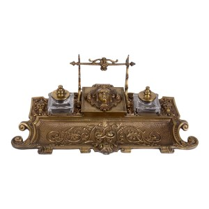 French bronze inkwell