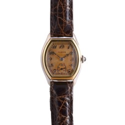 J W Benson Gold Tortue Wrist Watch
