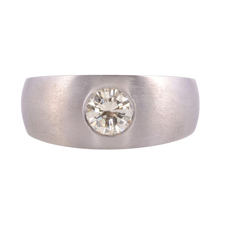flush set diamond ring
