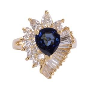 pear sapphire ring