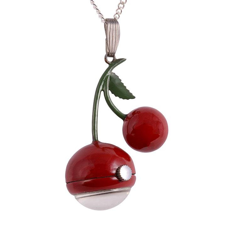 cherries pendant watch