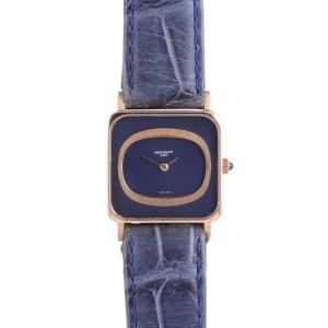 Patek Philippe blue gold wrist watch