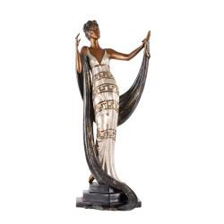 Erté Bronze Statue Coquette