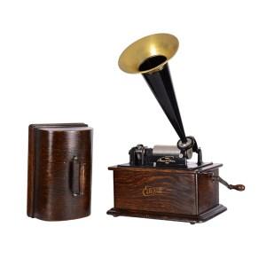 Edison Standard Crank Phonograph Oak Cabinet