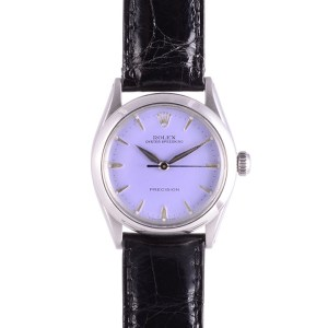 Rolex Stainless Steel Oyster Perpetual Speed King Lavender Dial Wrist Watch