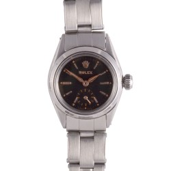 Rolex Stainless Steel Oyster Perpetual Ladies Wrist Watch