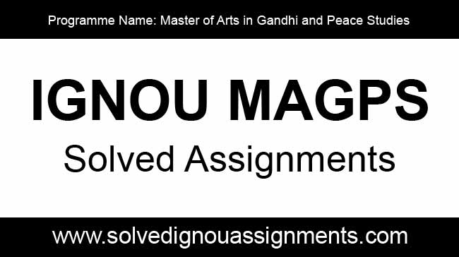 IGNOU MAGPS Solved Assignments, Books, Study Material
