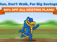 Hostgator 60% OFF