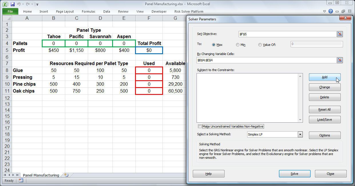 Excel Solver Tutorial - Step by Step Easy to use guide for Excel's ...