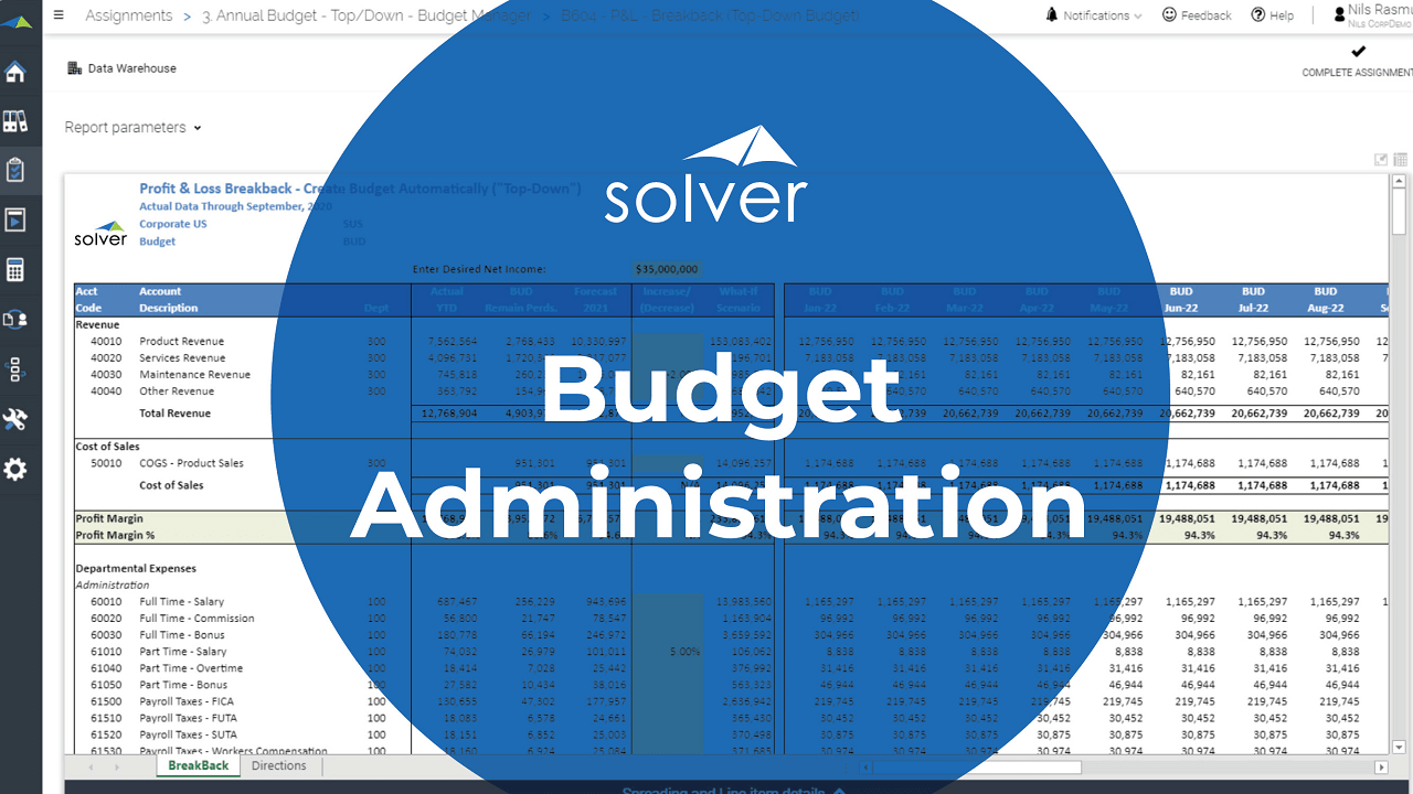 Planning – Budget Admin Overview