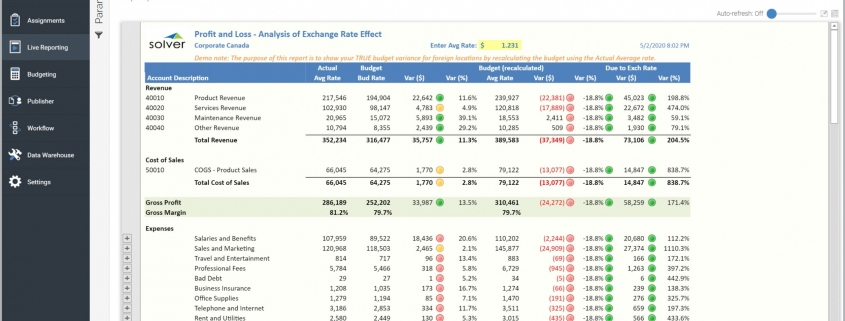 Profit & Loss with Exchange Rate Analysis Report Example