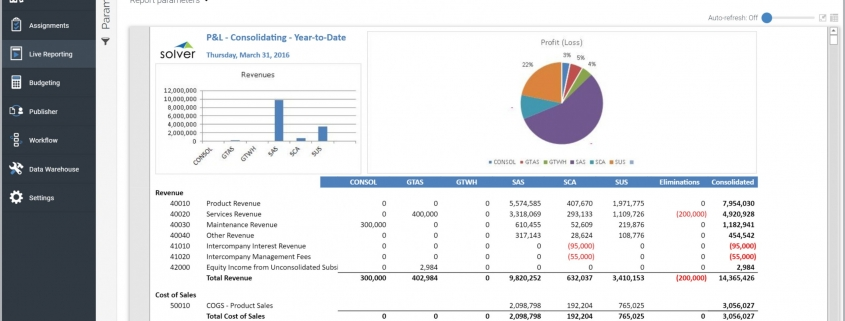 Consolidating Profit & Loss Report Example
