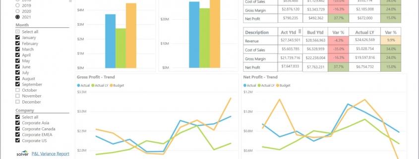 Profitability Dashboard Example