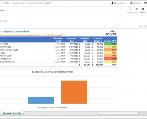 Marketing Campaign Report Example with Cost and ROI Analysis