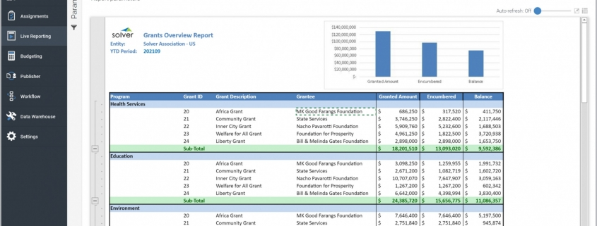Example of Grants Overview Report for Nonprofits