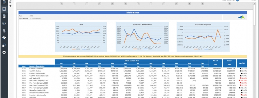 Trial Balance Monthly Trend Report Example