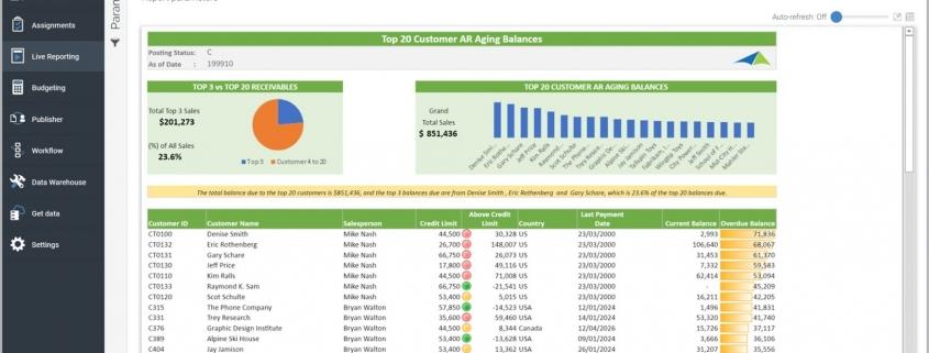 Top 20 Customer Accounts Receivable (AR) Aging Report Example