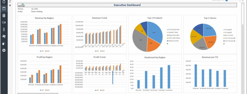 Example of an Executive Dashboard for a Retail Company