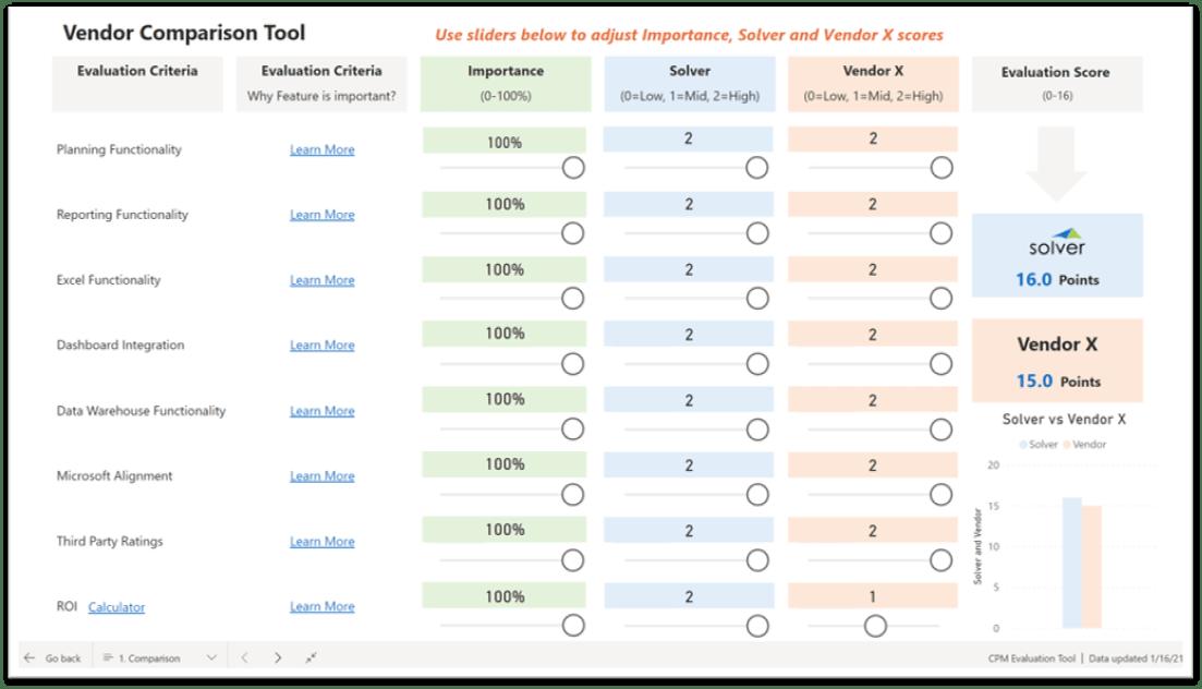 Vendor Comparison Tool