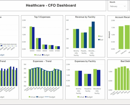 Example of a CFO Dashboard for Healthcare Providers