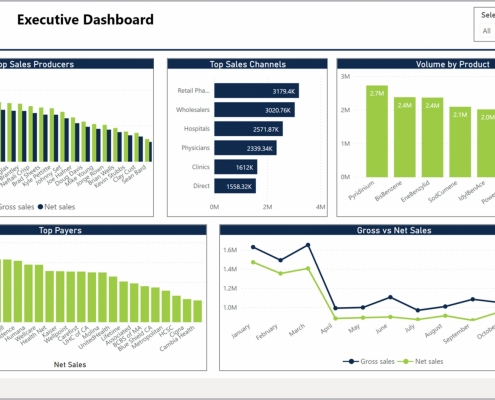 Example of an Executive Dashboard for Pharmaceutical Companies