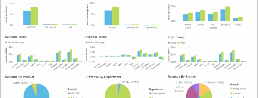 Example of a CFO Dashboards for Banks