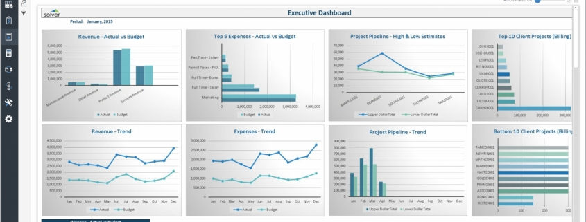 Example of an Executive Dashboard for Professional Services Companies