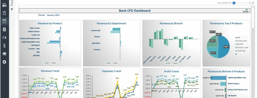 Example of a CFO Dashboard for Banks