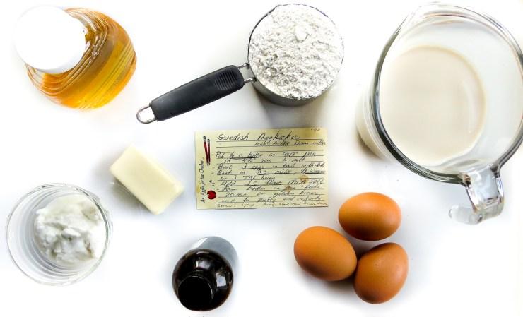 Ingredients for Swedish Aggkaka