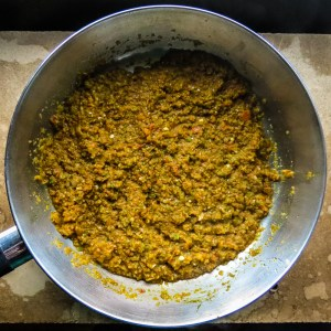 Curry Paste Frying in Pan