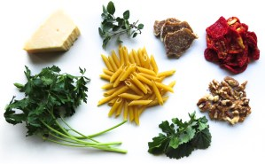 Ingredients for Pasta Night with Sundried Tomato Pesto
