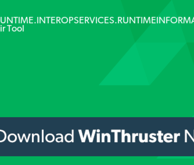 What Is System Runtime Interopservices Runtimeinformation Dll And How To Fix It