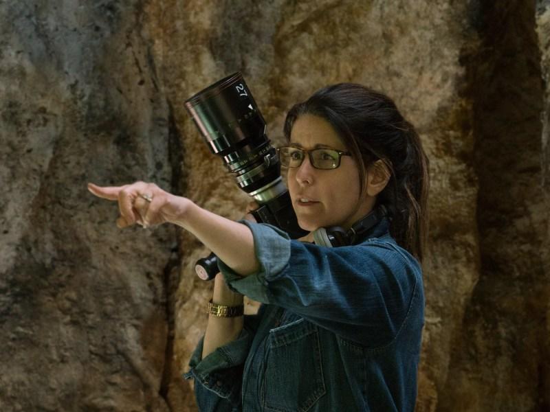 Patty Jenkins on the set of Wonder Woman