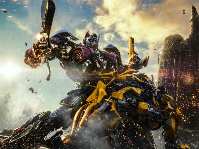 Optimus Prime and Bumblebee in TRANSFORMERS: THE LAST KNIGHT, from Paramount Pictures.