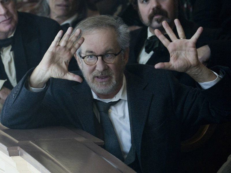 Steven Spielberg directing Lincoln.