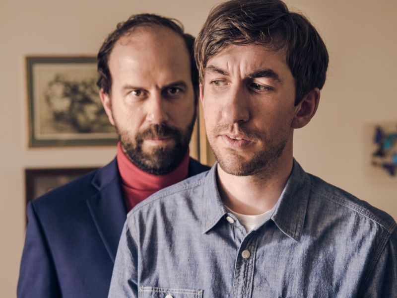 Brett Gelman as Carl Lemay and Mark Little as Mitch Baldwin in Room for Rent.