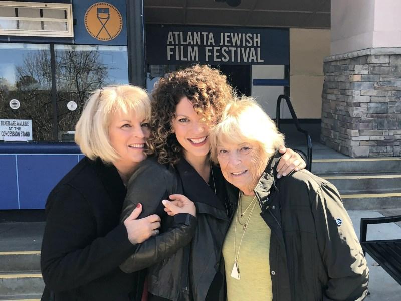 Abby Myers, Rachel Myers, and Roberta Mahler at the Atlanta Jewish Film Festival.