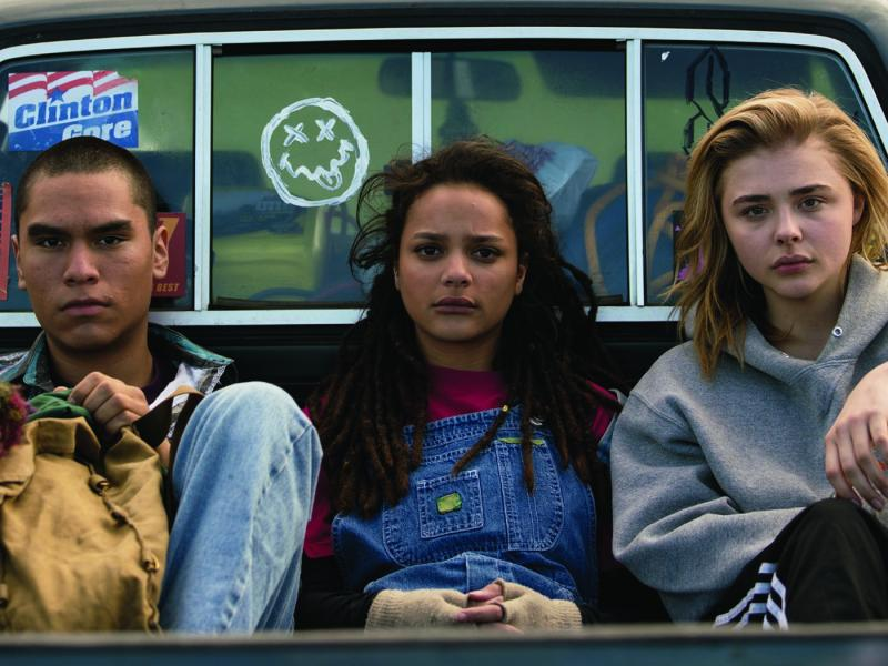 Forrest Goodluck as Adam Red Eagle, Sasha Lane as Jane Fonda, and Chloë Grace Moretz as Cameron Post in THE MISEDUCATION OF CAMERON POST.