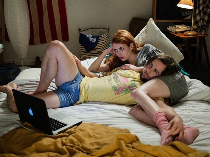 Emma Roberts and Michael Angarano in In a Relationship.