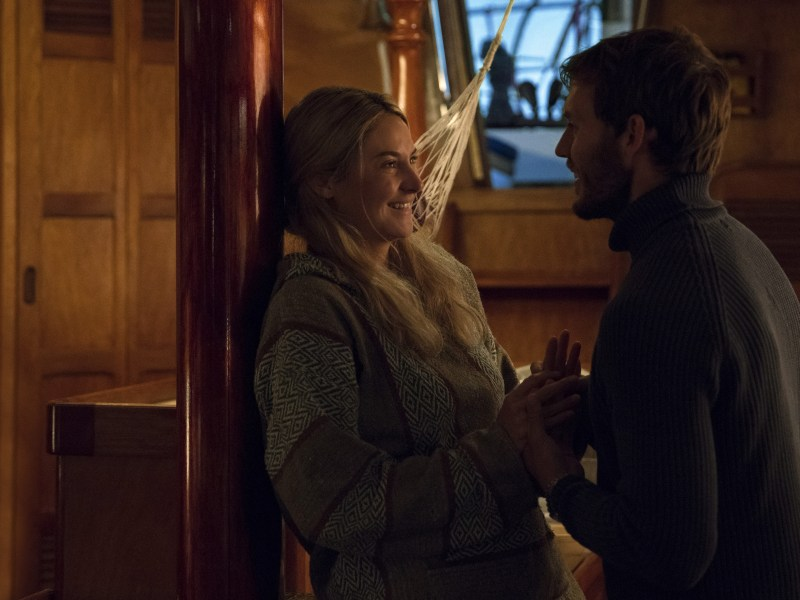 Shailene Woodley and Sam Claflin star in ADRIFT.
