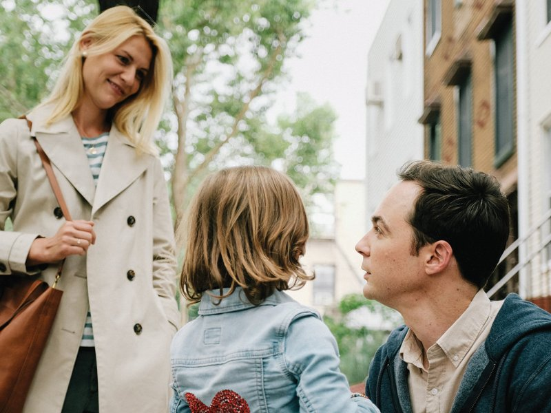 Claire Danes as Alex Wheeler, Leo James Davis as Jake Wheeler, and Jim Parsons as Greg Wheeler in Silas Howard's A KID LIKE JAKE.