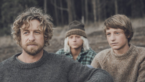 Simon Baker, Ben Spence, and Samson Coulter in Breathe.