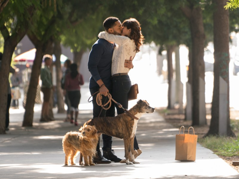 "Tone Bell (left) stars as ""Jimmy"" and Nina Dobrev (right) stars as ""Elizabeth"" in Ken Marino's DOG DAYS, a LD Entertainment release."