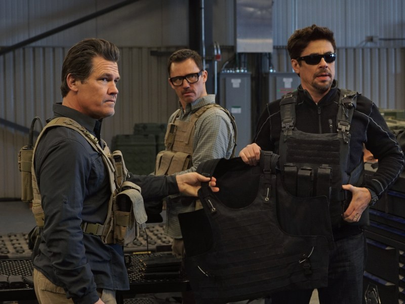 Josh Brolin, Jeffrey Donovan and Benicio Del Toro in SICARIO: Day of the Soldado.